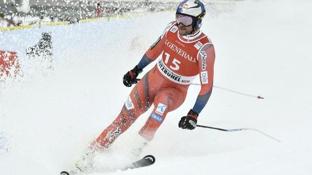Aksel Svindal en l'arrivada.