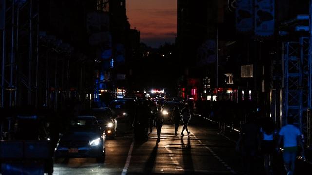 Dunkle Strassen Manhattans