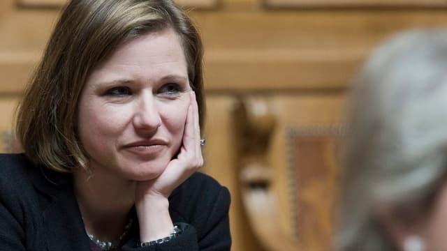 Christa Markwader nachdenklich. (keystone)