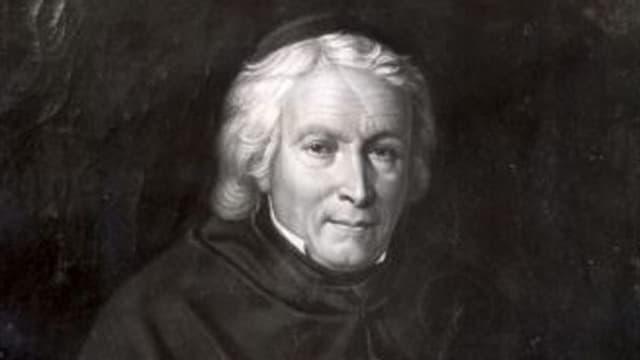 Gregor Girard auf einem Gemälde.