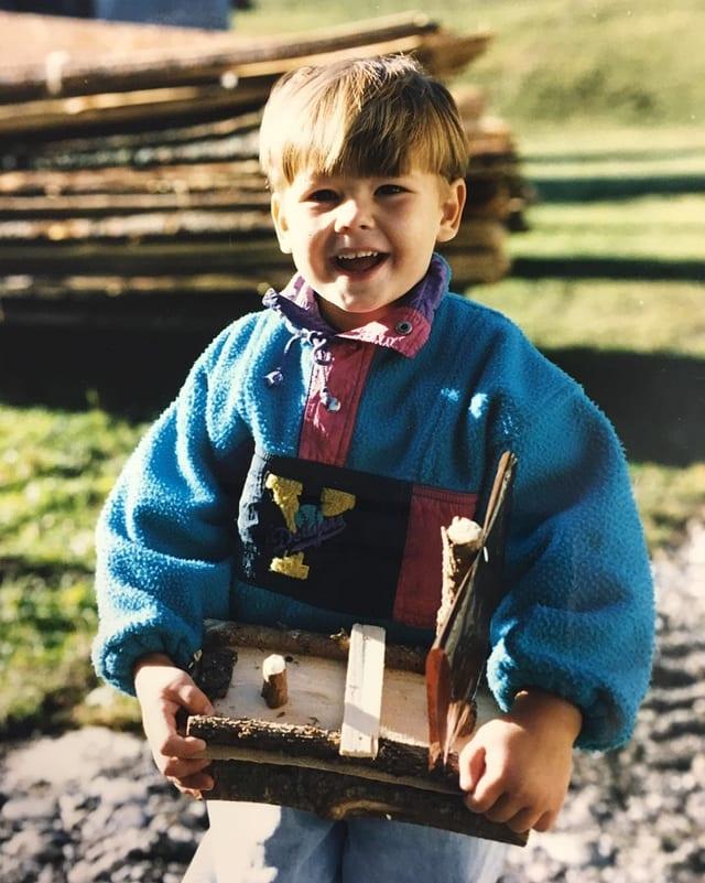 Joel Grolimund als Kind.