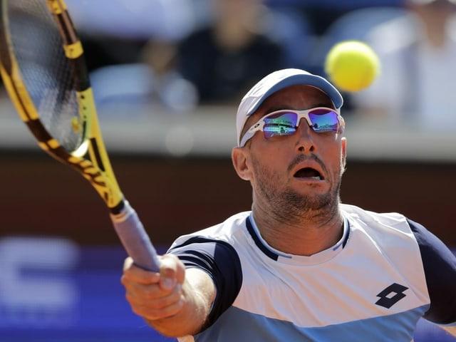 Viktor Troicki in einem Tennis-Match an der Adria-Tour