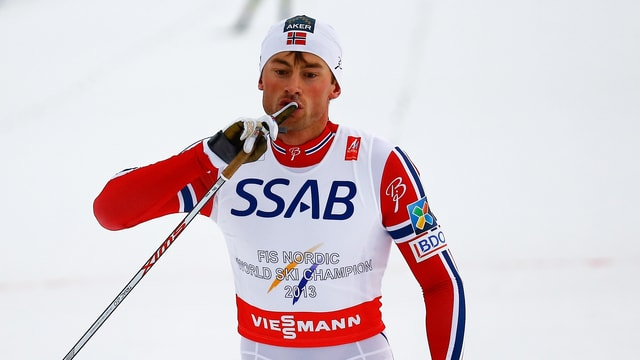 Petter Northug in Jubelpose.