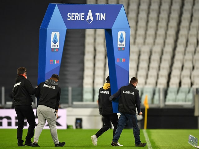 Die Partie zwischen Juventus und Neapel fand nicht statt.