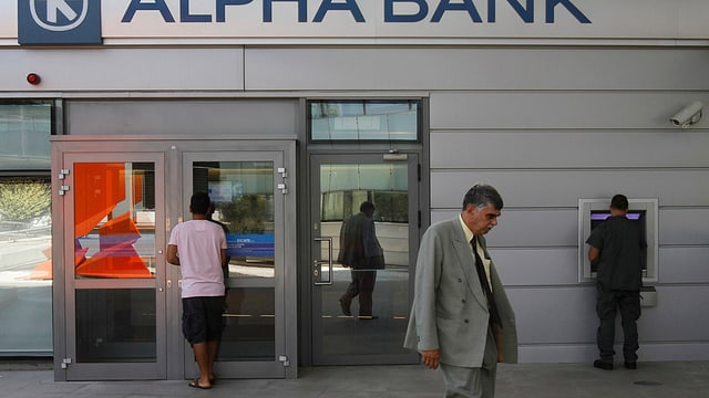 banca grecca, automat