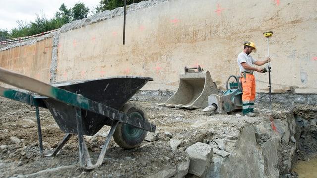 Baustelle in Luzern.