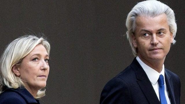 Marine Le Pen und Geert Wilders in Amsterdam.