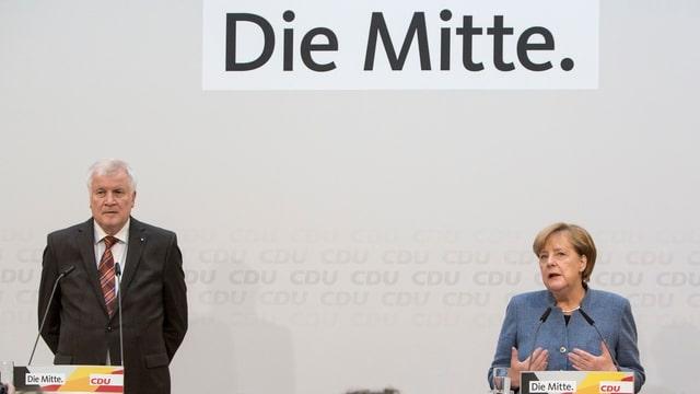 Horst Seehofer CSU ed Angela Merkel CDU.