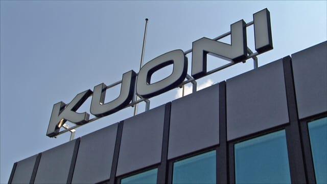 Kuoni-Logo an Fassade