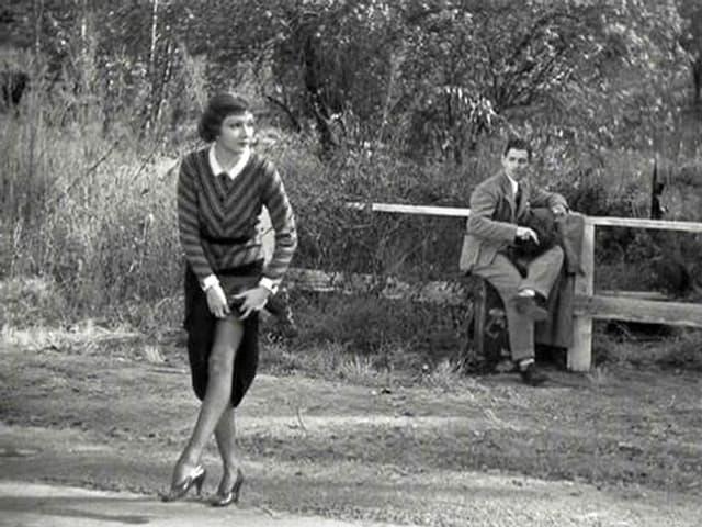 Claudette Colbert and Clark Gable im Film «It happened in one night».