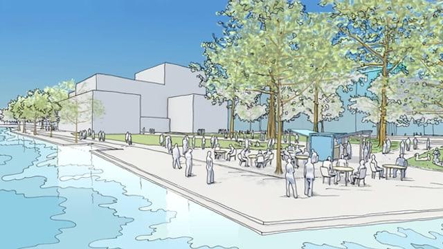 Visualisierung des Projekts Salle Modulable.