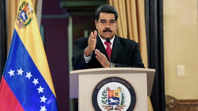 Nicolas Maduro durant in pled.