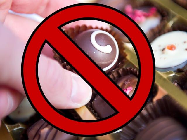 Pralinen verboten