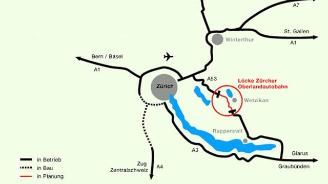 Karte mit dem noch fehlenden Abschnitt rot umsrandet.