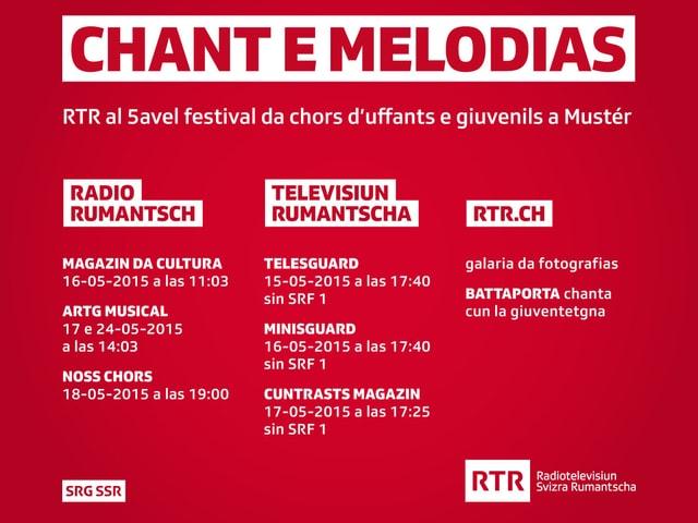 RTR al 5avel festival da chors d'uffants e giuvenils a Mustér.