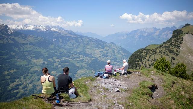 Ausblick vom Gonzen im Kanton St. Gallen