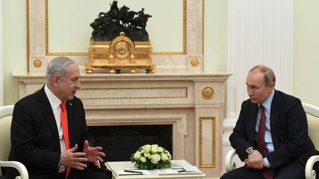 Netanjahu (links) bei Putin