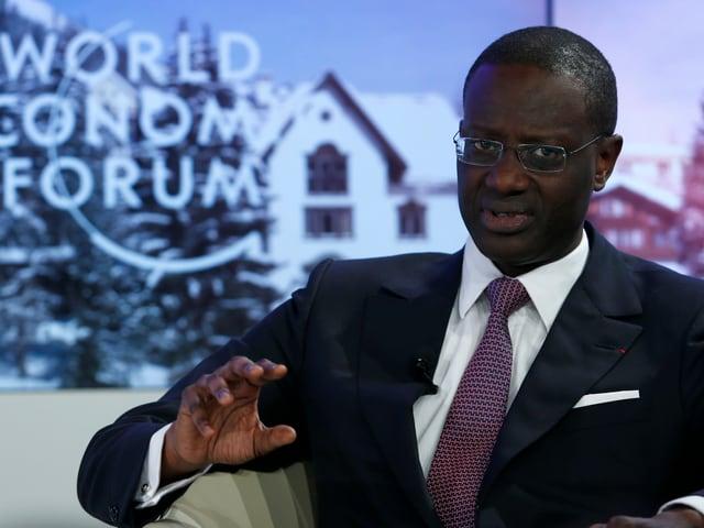 Tidjane Thiam an einer Veranstaltung des Weltwirtschaftsforums