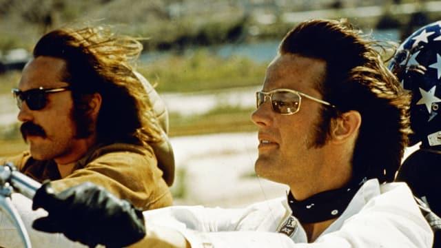Dennis Hopper und Peter Fonda in Easy Rider.