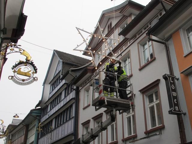 Weihnachtsbeleuchtung in Appenzell.