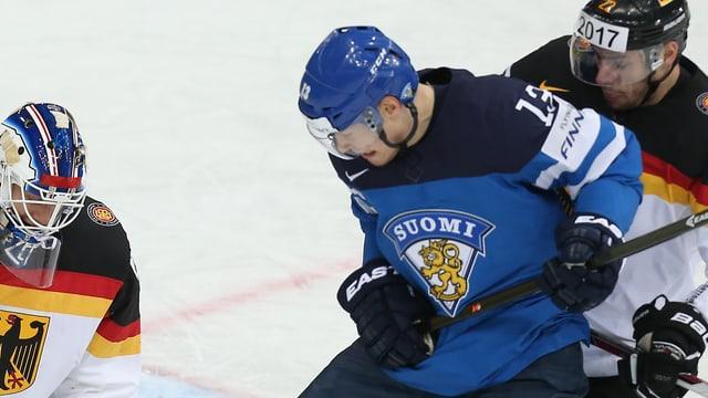 Petteri Wirtanen im Dress der finnischen Nationalmannschaft.