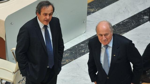 Platini e Blatter.