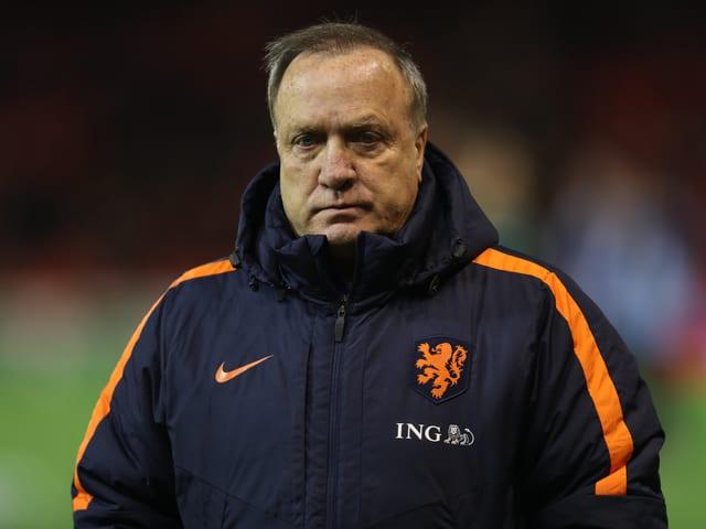 Dick Advocaat als Trainer der Niederlande.