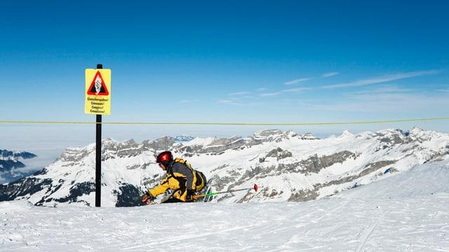 Skifahrer auf dem Titlis