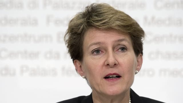 La presidenta da la Confederaziun, Simonetta Sommaruga.