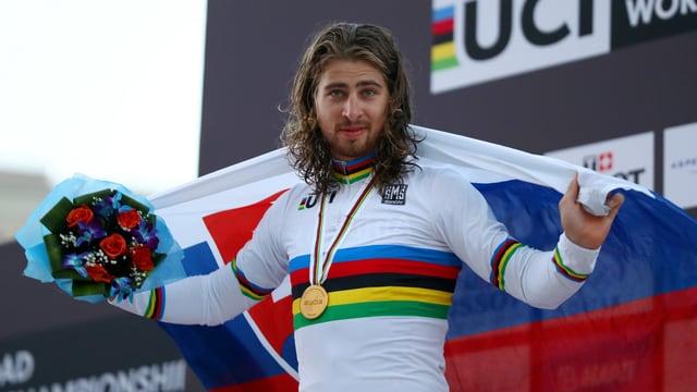 Peter Sagan verteidigte 2016 in Doha seinen Weltmeistertitel von 2015 im Strassenrennen.