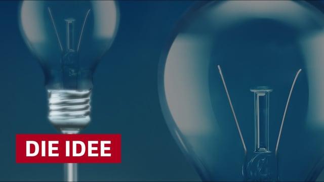 Titelbild die Idee mit Glühbirnen