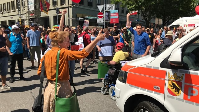Demonstration in Bern.