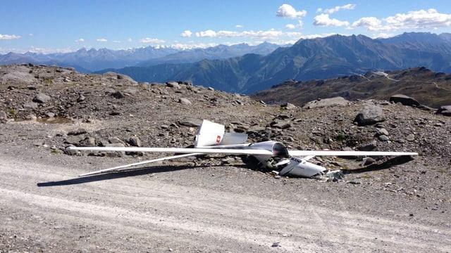 Accident da l'eroplan da motor a vela sin il Vorab il settember 2013.