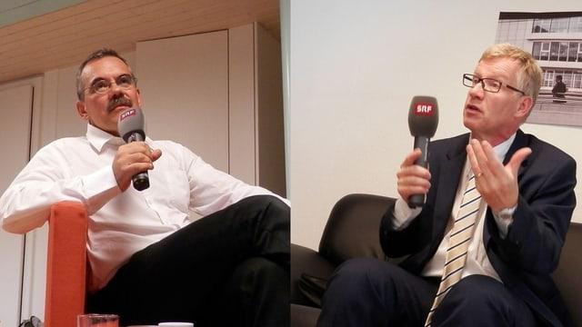 Jean-François Steiert und Jean-Pierre Siggen.