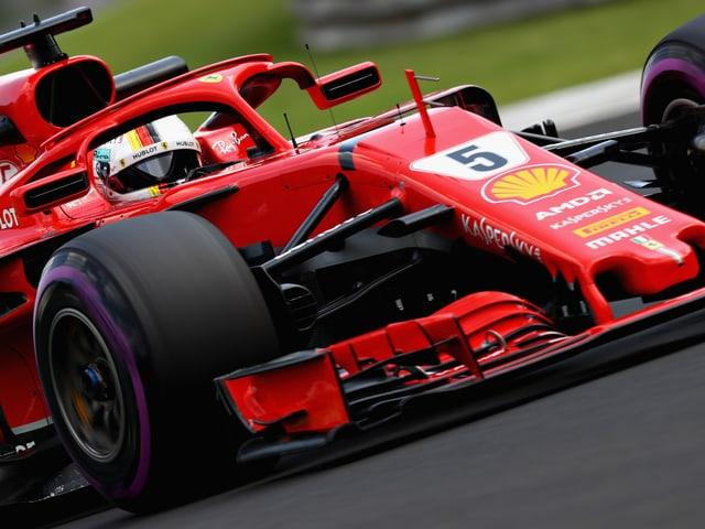 Vettel beim Training in Ungarn
