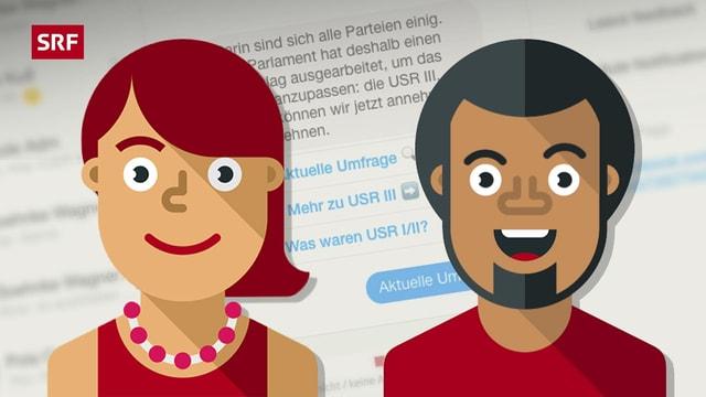Teaserbild des neuen interaktiven Angebots «Janino» zu den Abstimmungen.