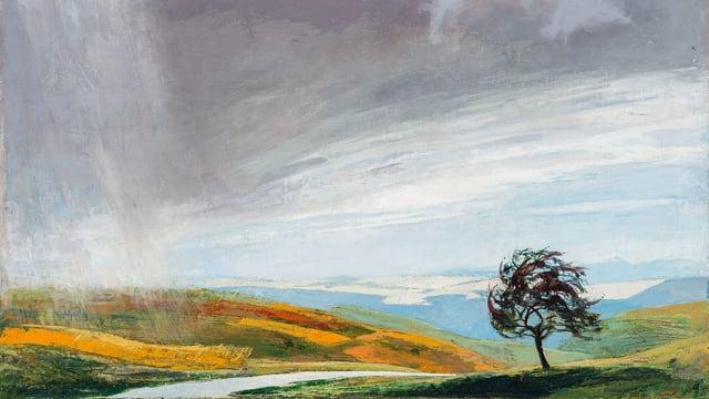 Gemälde Baum in Landschaft