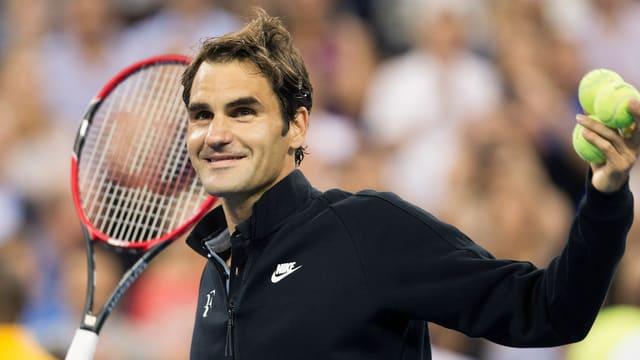 Roger Federer spielt seine Drittrunden-Partie erneut im Arthur Ashe Stadium.