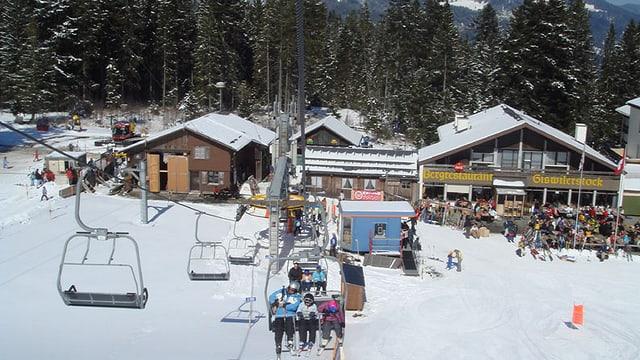 Das Skigebiet Mörlialp im Kanton Obwalden