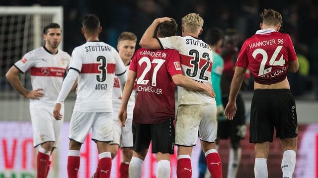 Die Stuttgart-Spieler.