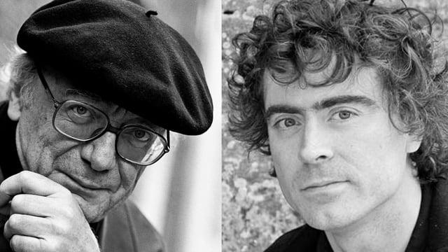 Portraits der Pianisten Afred Brendel und Paul Lewis.