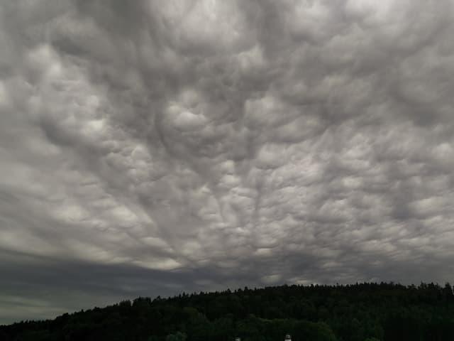 Mammatus-Wolken.