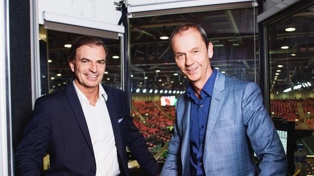 Stefan Bürer (r.) und Heinz Günthardt.