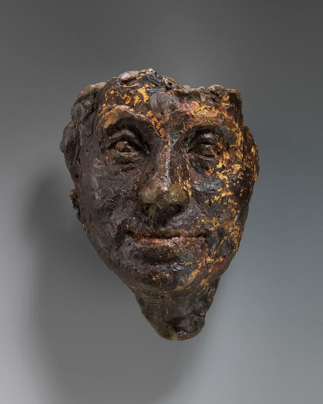 Alberto Giacometti: Tête de la mère, um 1919, Plastilin, 31 x 15 x12 cm.