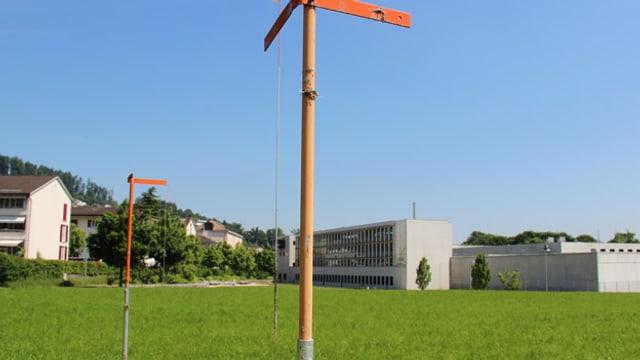 Wiese neben Gefängnis Grosshof.