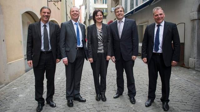 Die Walliser Kantonsregierung in corpore.