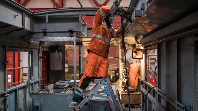 Arbeiter in den SBB-Werken