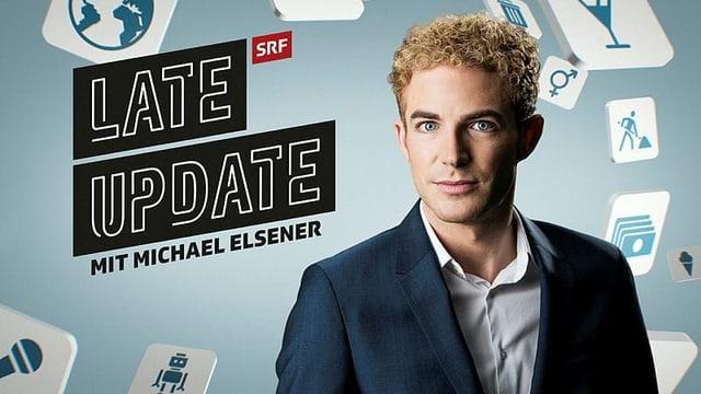 Logo «Late Update» mit Michael Elsener