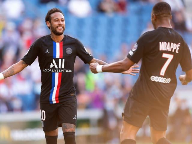 Paris St-Germains Neymar (links) und Kylian Mbappé.
