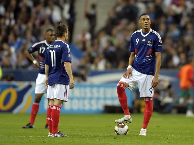 Kevin Gameiro und Guillaume Hoarau im Trikot Frankreichs.